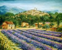 Saint Paul de Vence and Lavender