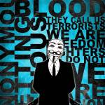 """Anonymous revolution without blood ? Cyan"" by Shobrick"