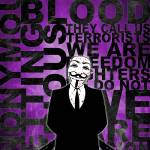 """Anonymous revolution without blood ? Purple"" by Shobrick"