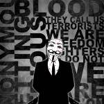 """Anonymous revolution without blood ? W&B"" by Shobrick"