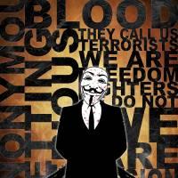 Anonymous revolution without blood ? Gold Art Prints & Posters by Shobrick Shobrick