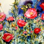 """""Garden full of poppies"""" by artbyjpennington"