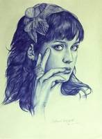 katy perry ballpoint pen drawing
