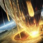 """""""A giant asteroid collides with the earth."""" by stocktrekimages"""