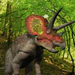 """A Triceratops wanders a Cretaceous forest."" by stocktrekimages"