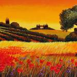"""""""Sunset with Olive Trees"""" by GiuseppePino"""