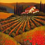 """""""Vineyard at Sunset in Tuscany"""" by GiuseppePino"""