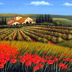 """Vineyard in Tuscany"" by GiuseppePino"