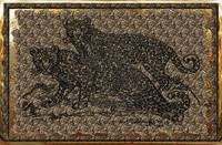 Leopards Foil Tapestry