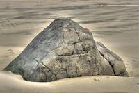 Large Rock On The Beach
