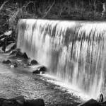 """""""Manchaug Falls B&W"""" by jkphotos"""