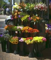 San Francisco flower stand