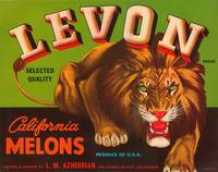 Levon Melons Lion Fruit Crate Label