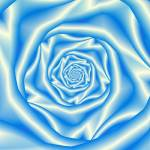 """Blue Rose Spiral"" by Objowl"