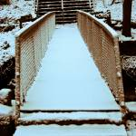 """snowy bridge"" by MyTreasuredImages"