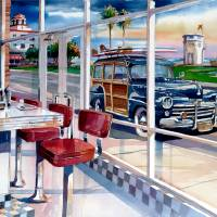 The Diner Art Prints & Posters by Bill Drysdale