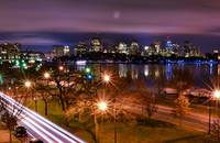 Night View of Boston Skyline from MIT