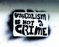 graffiti vandalism is not a crime