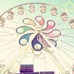 """Vintage Ferris Wheel"" by Kat_Finn"
