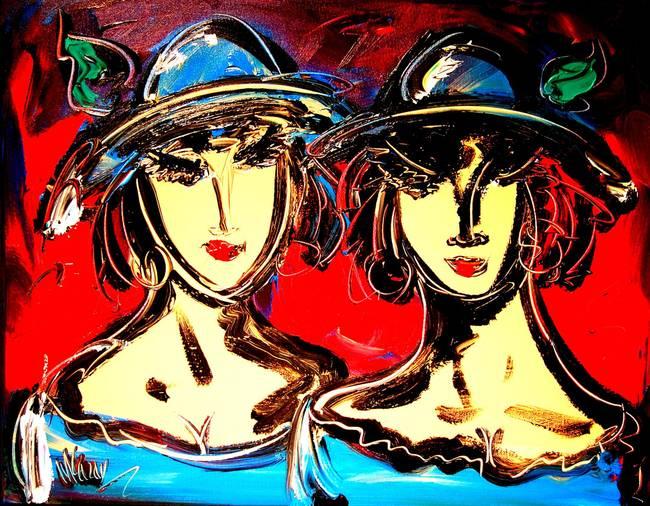 Mark Kazav TWO-GIRLS-BY-MARK-KAZAV_art