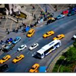 """""""Fake Miniature Cabs and Buses. Columbus Circle, NY"""" by googoo"""