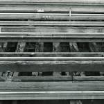 """B&W Railroad Tracks along the Hudson - 1981"" by Fotofrieze"