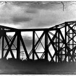 """Old St. Charles Bridge across Missouri River"" by Fotofrieze"