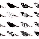 """Monochromatic patterned birds"" by munieca"
