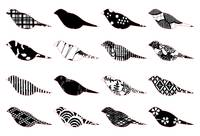 Monochromatic patterned birds