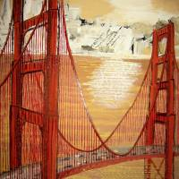 Sunset on Golden Gate Bridge, San Francisco Art Prints & Posters by Patrick Bornemann