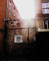 Soft Light Overflows Into Street Lamp, New Orleans
