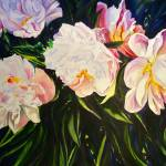 """White Peonies"" by KellyEddington"