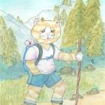 """Hiking Gingey"" by Artpixie"
