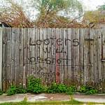 """Looters Will Be Shot Fence, New Orleans"" by louismaistros"