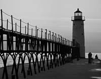 Manistee, Michigan Pier and Lighthouse