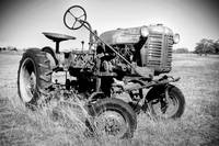 Time and Metal: Tractor in a Field
