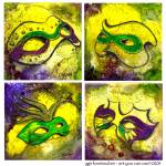"""The Mask of Mardi Gras by GG Burns"" by ggsfunctionalart"