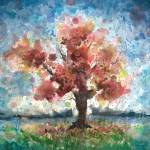 """Portrait of a Tree, expressive watercolor painting"" by PjCreates"