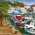 """Skiathos Old Port"" by yvonneayoub"