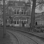 """Rail tracks in Amsterdam."" by TEHuchton"