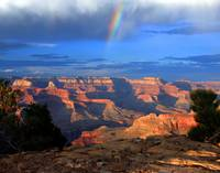 Rainbow at Canyon's Edge