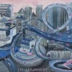 """""""L.A. Freeway"""" by artbyione"""
