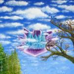 """Crystal Hermitage Castle in a Cloud"" by ArtSamadhi"