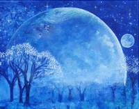 Blue Night Moon