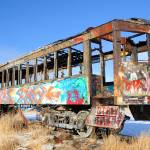 """Colorfully Spray Painted Old Rail Car"" by ultimateplaces"