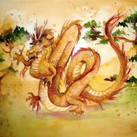 Chinese Wood Dragon Art Prints & Posters by Shoshanna Bauer