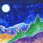 """Full Moon Mountain"" by SusanFaye"