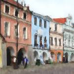 """Litomysl Town - Czech Republic - Oil"" by WallArtDeco"