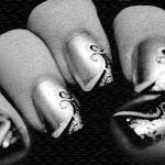 """Fashioned Finger Nails in Black and White Abatract"" by WallArtDeco"