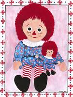 Raggedy Ann and baby Ann